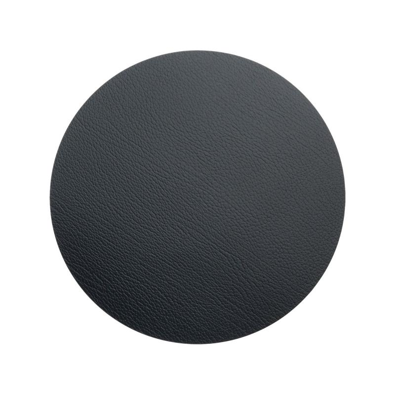 Circle Hot Mat, XS, Bull Leather, Black