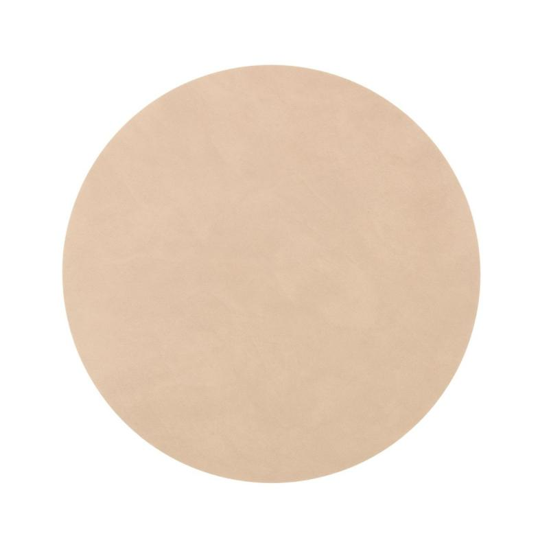Circle Table Mat, M, Nupo Leather, Sand