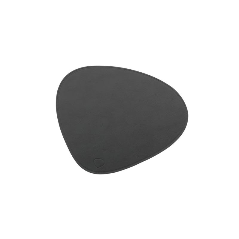 Curve Mouse Mat, Cloud Leather, Antrachite With No Stitching