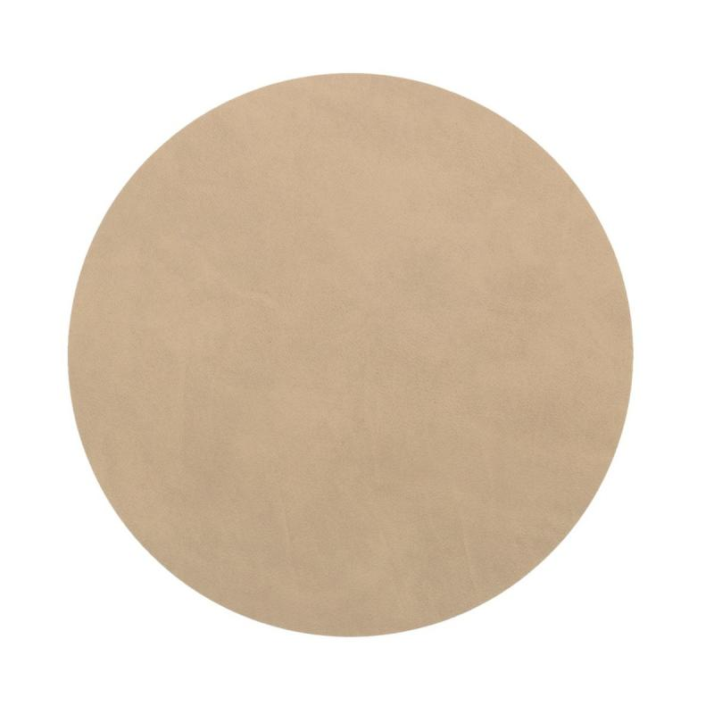 Circle Table Mat, S, Nupo Leather, Sand