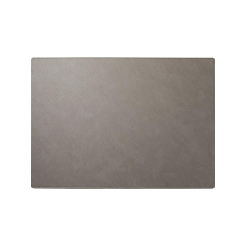 Square Work Mat, XXL, Cloud Leather, Light Grey With No Stitching