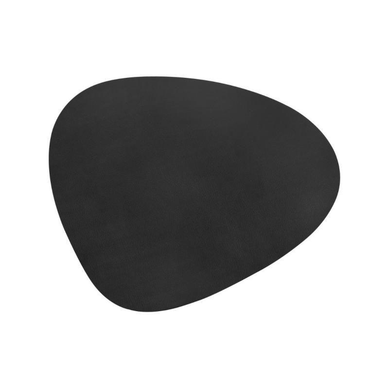 Curve Floor Mat, XXL, Bull Leather, Black