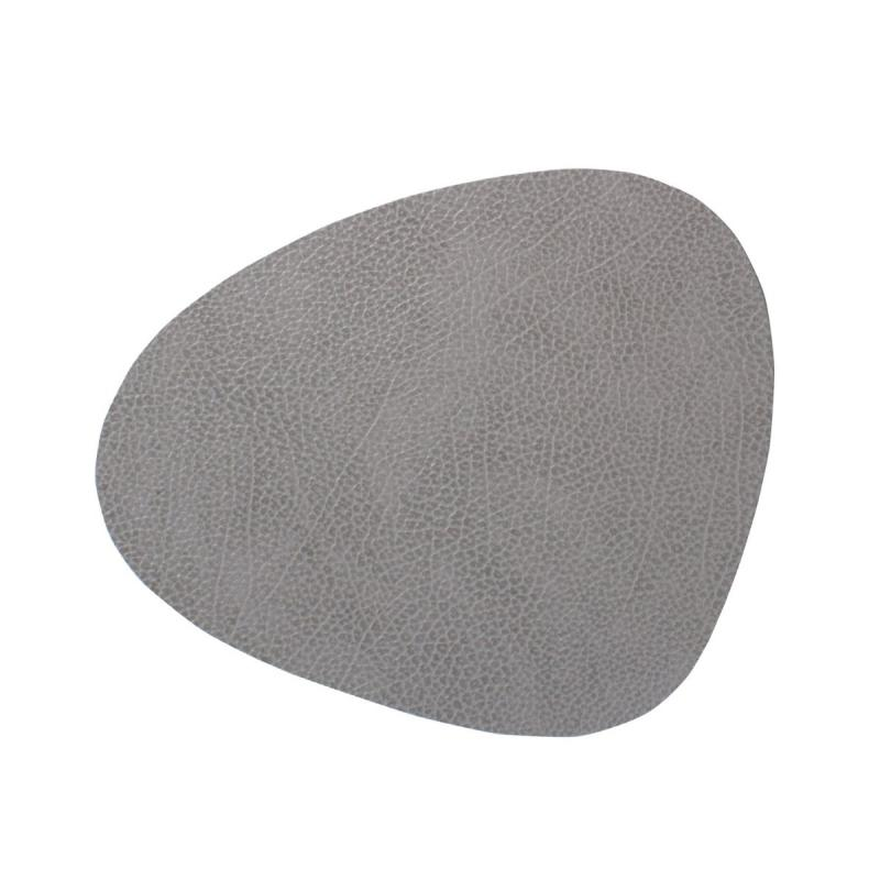 Curve Table Mat, L, Hippo Leather