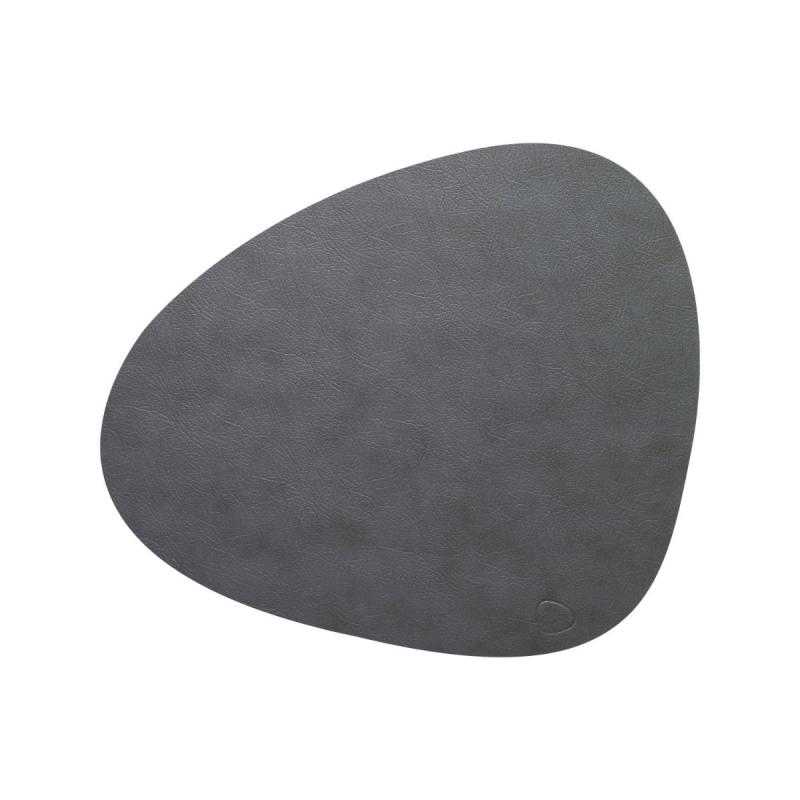 Curve Table Mat, L, Cloud Leather, Anthracite