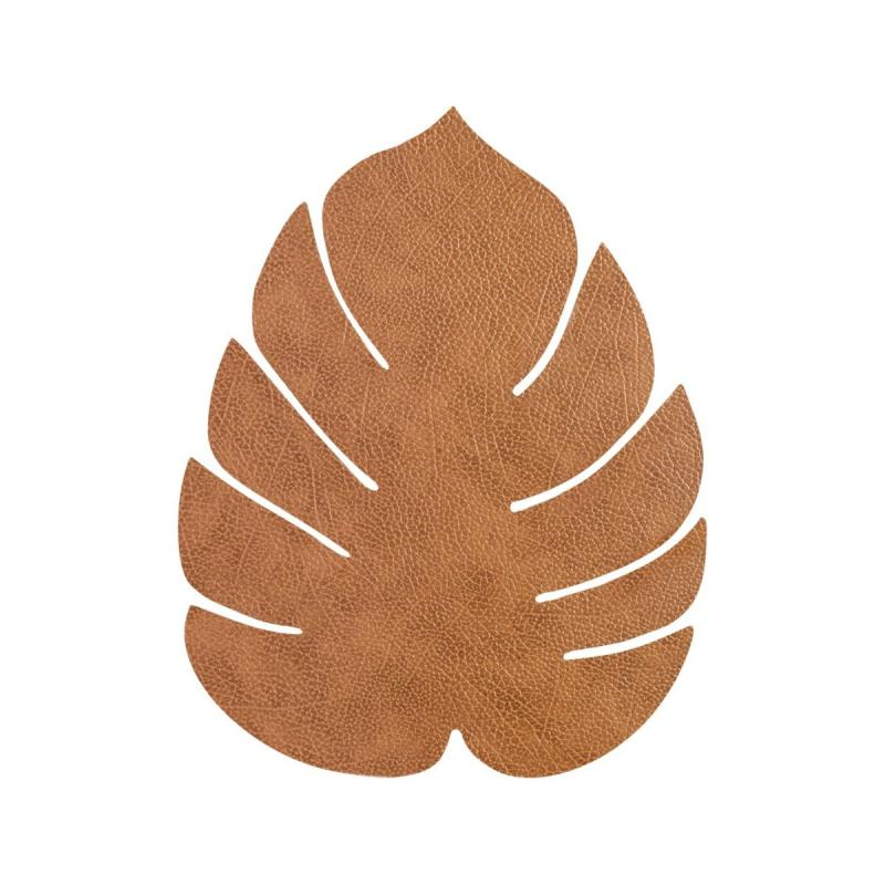 Monstera Leaf Table Mat, L, Hippo Leather, Nature