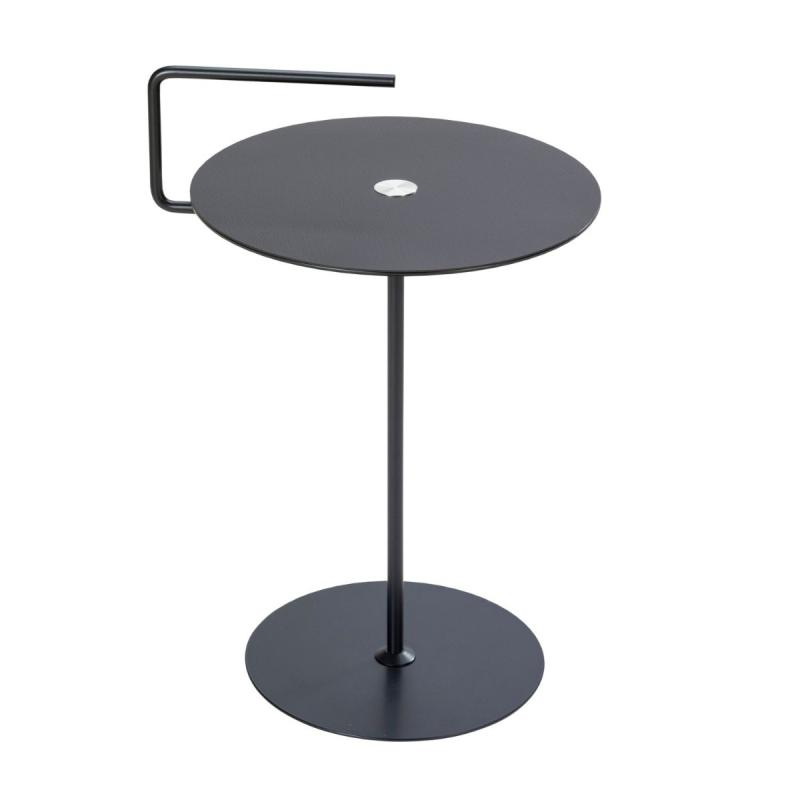 Pick-Up Table With Jewel, M, Bull Leather, Black / Brown