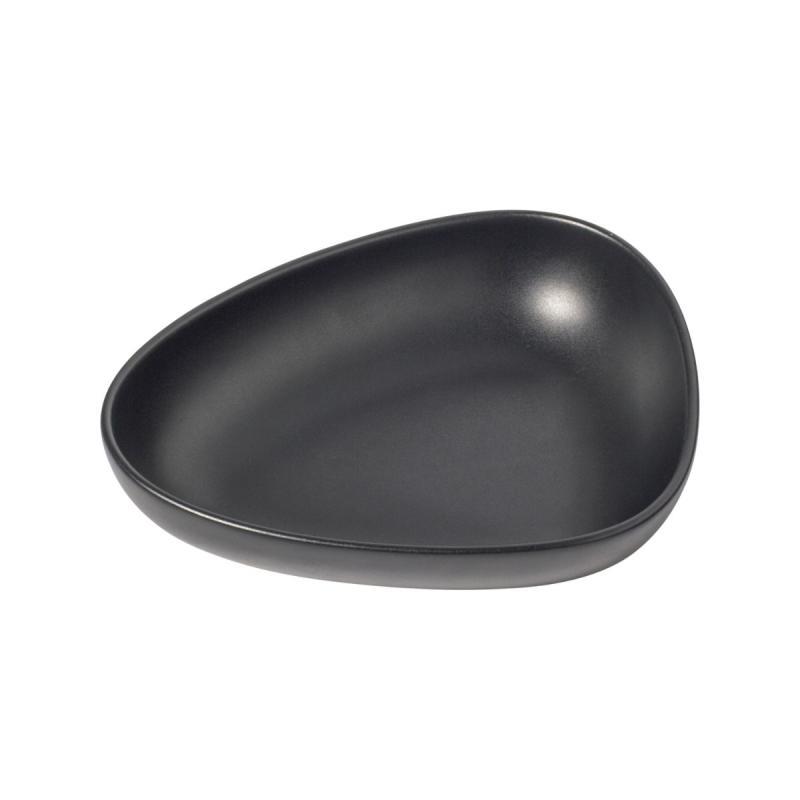 Curve Deep Plate, Set of 2, Black