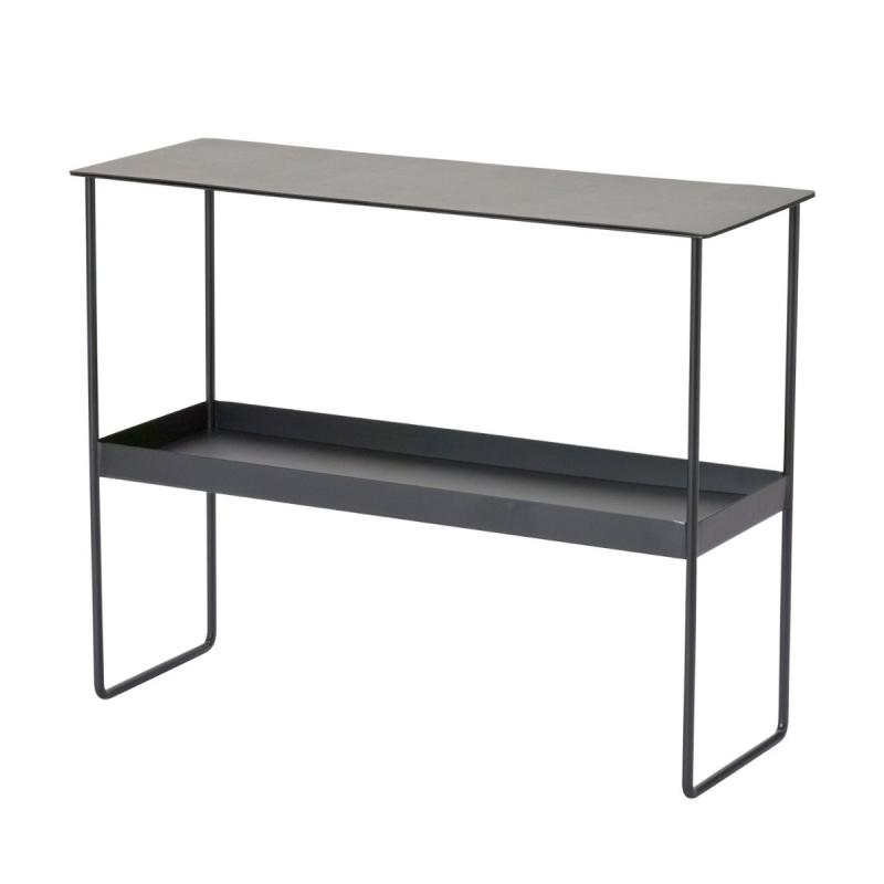 Console Table, Bull Leather