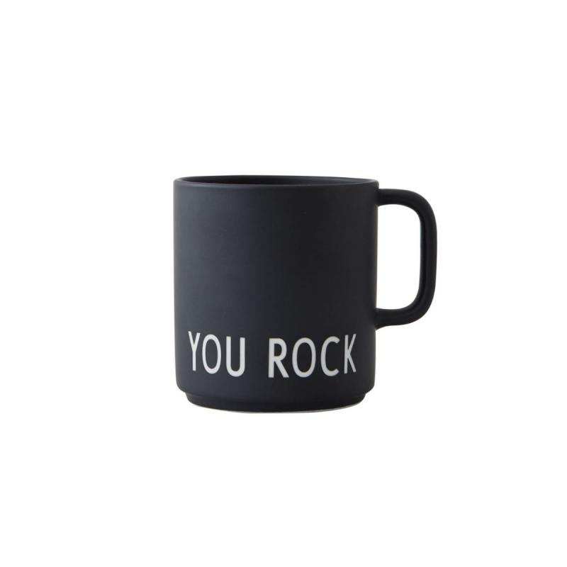 Favourite Cup With Handle, You Rock, Black