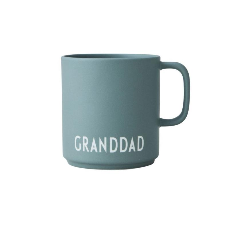 Favourite Cup With Handle, Granddad, Dark Green