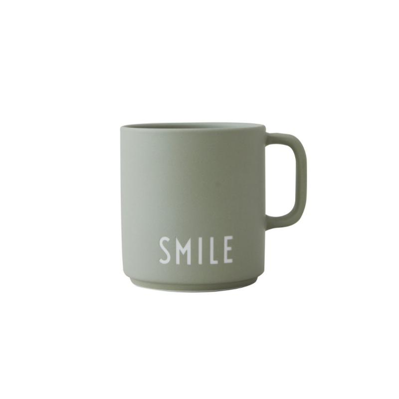 Favourite Cup With Handle, Smile, Green