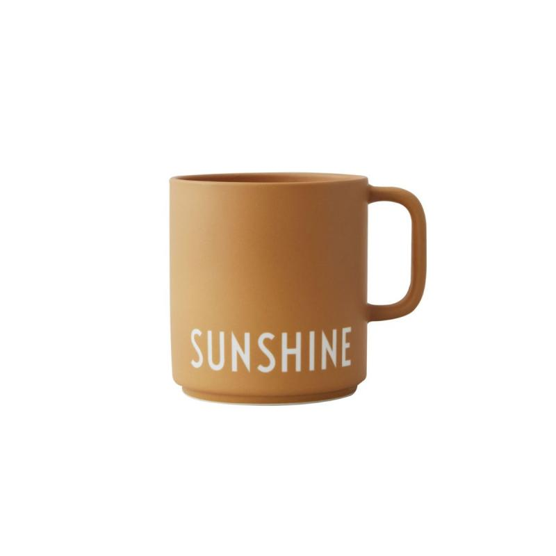 Favourite Cup With Handle, Sunshine, Mustard