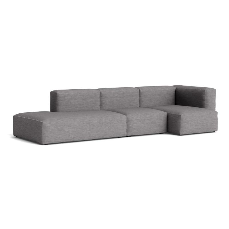 Mags Soft Sofa, 3-Seater, Combination 3, Left End, Dark Grey With Black Stiches