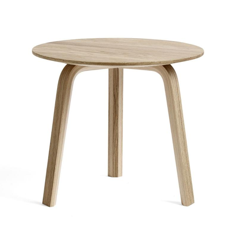 Bella Coffee Table, Ø45x39cm, Matt Lacquered Oak