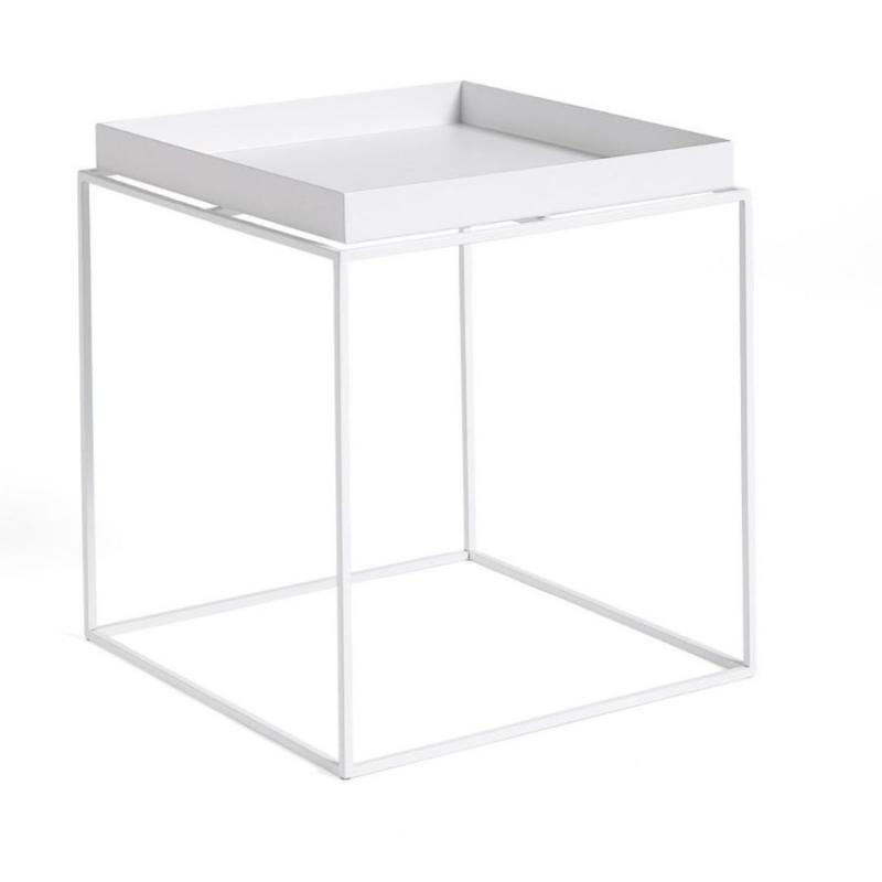 Tray Side Table, M, White