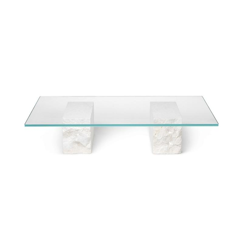 Mineral Coffee Table, Bianco Curia