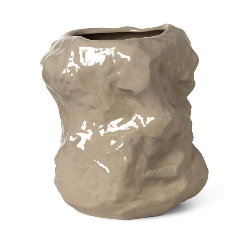 Tuck Vase, Cashmere
