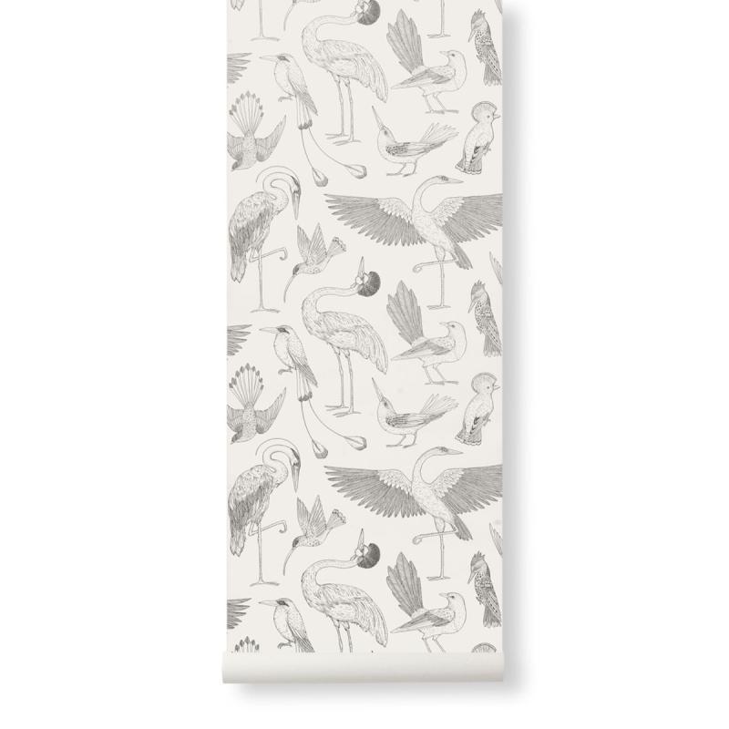 Katie Scott Wallpaper, Birds, Off-White