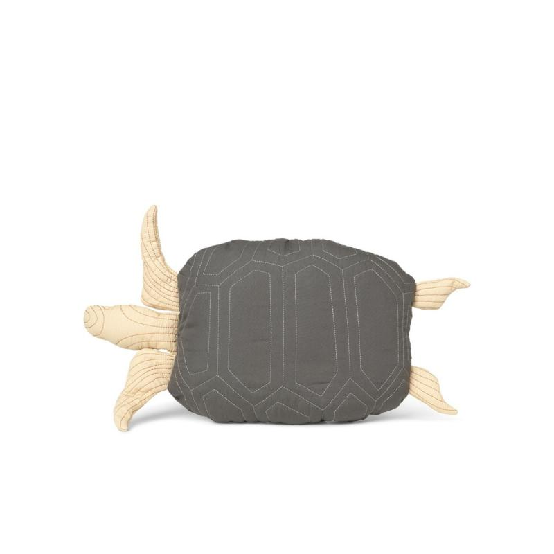 Turtle Quilted Cushion, Deep Forest