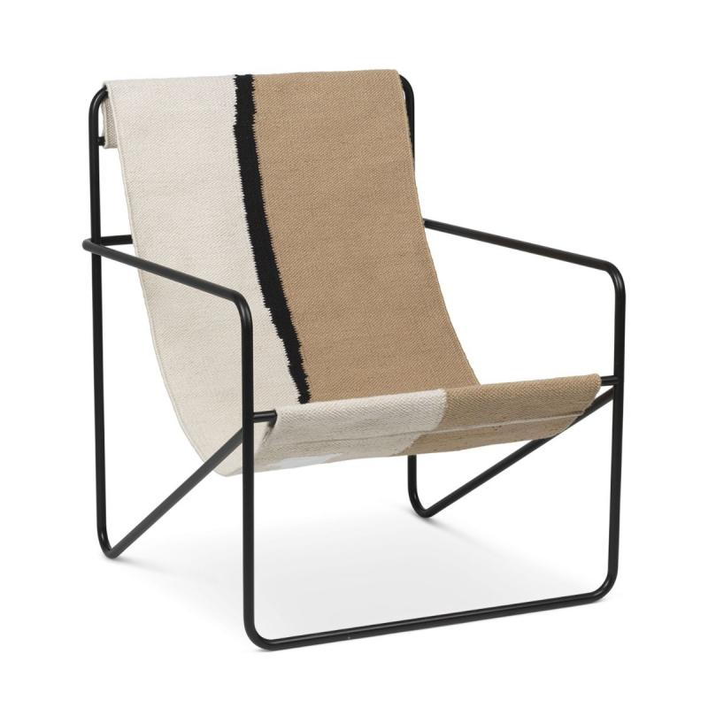Desert Lounge Chair, Black Frame