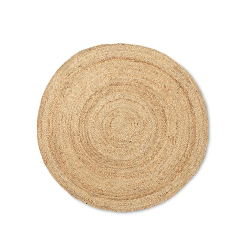 Eternal Round Jute Rug, Natural