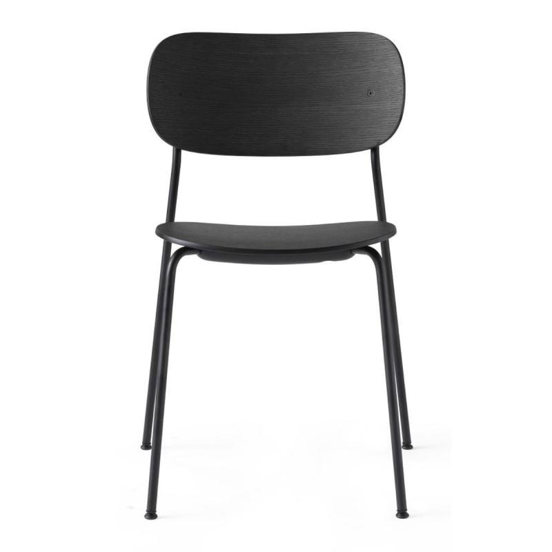 Co Dining Chair, Black Oak Seat / Black Frame