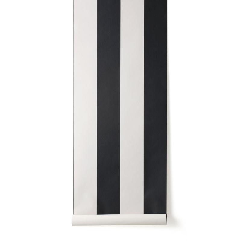 Vertigo Wallpaper, Black / Off-White