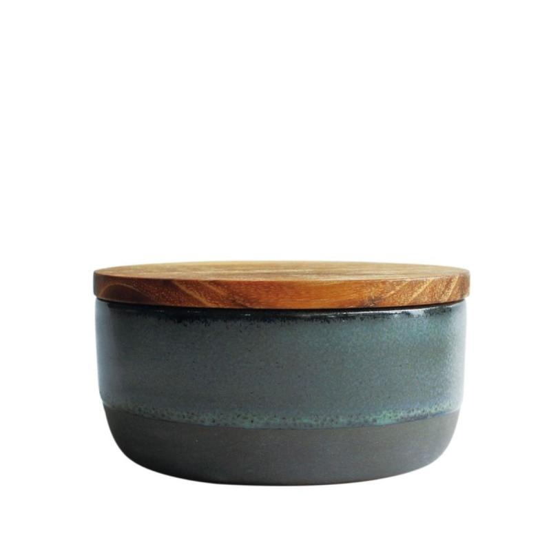 RAW Bowl With Lid ja Spoon, Northern Green