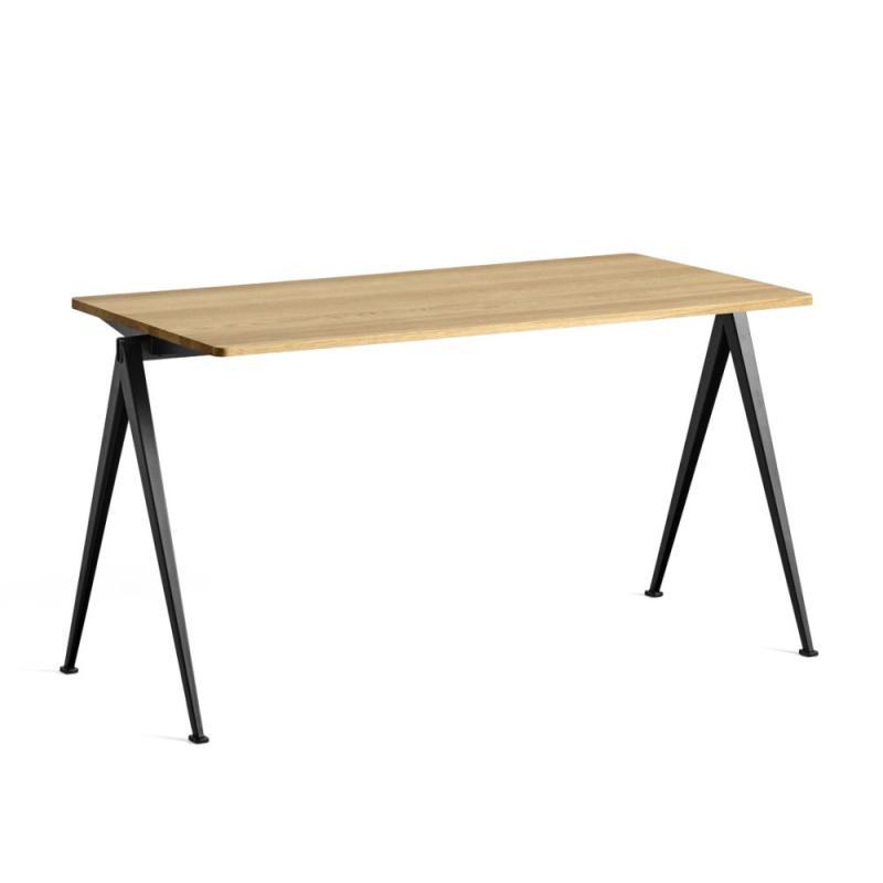 Pyramid Table 01, 140x64cm, Oak Top / Black Frame