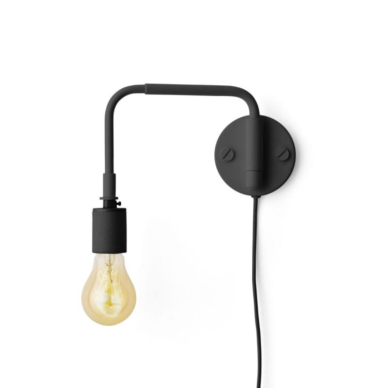Staple Wall Lamp, Black