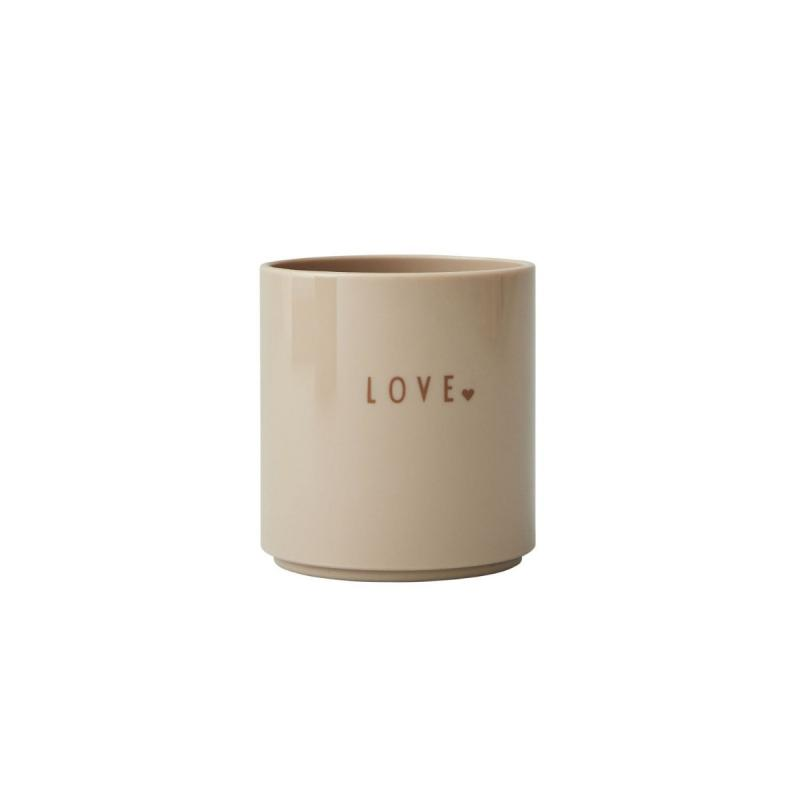 Mini Favourite Cup, Love, Beige