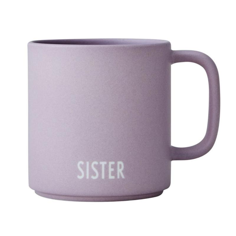 Favourite Cup With Handle, Sister, Lavender