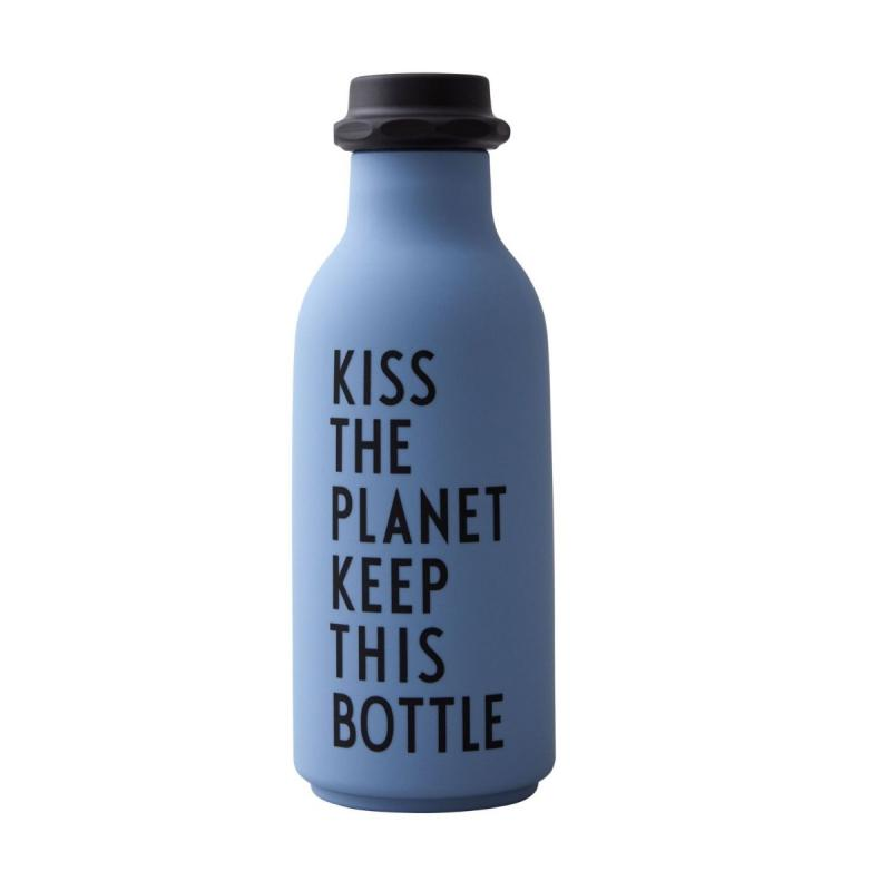 Water Bottle, Kiss The Planet (Special Edition), Blue