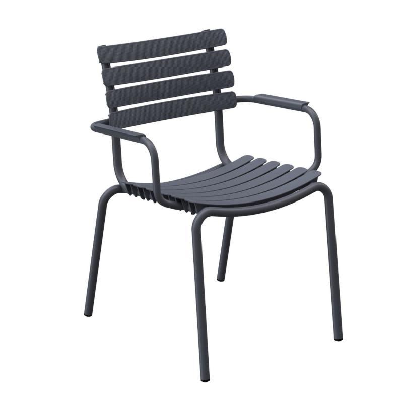 ReCLIPS Dining Chair With Aluminium Armrest
