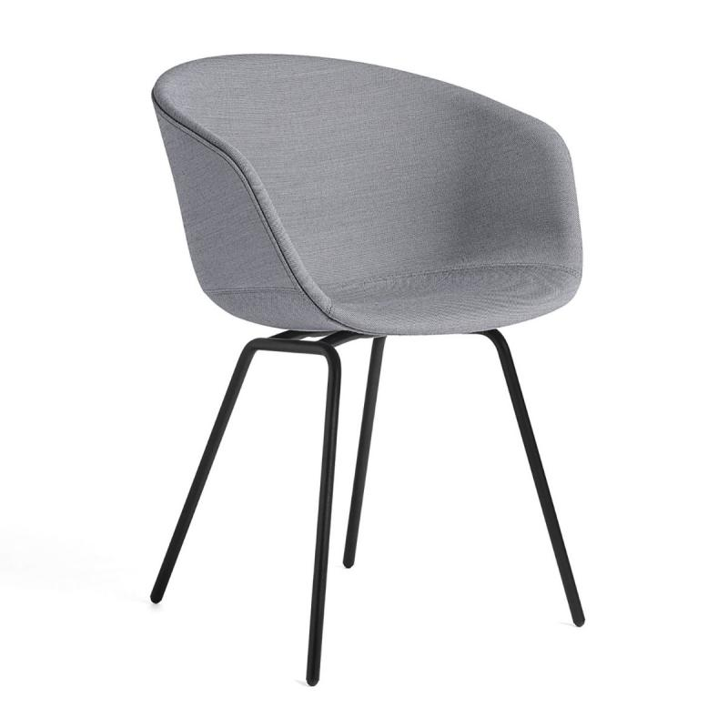 AAC 27 Chair, Grey Upholstery / Black Base