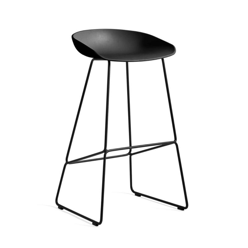 AAS 38 Bar Stool, High, Black Shell / Black Base