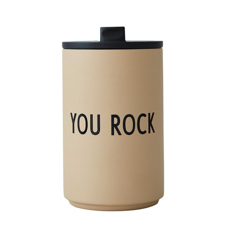 Thermo/Insulated Cup, You Rock, Beige
