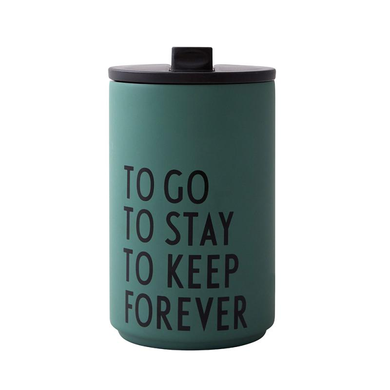 Thermo/Insulated Cup, To Go To Stay, Dark Green