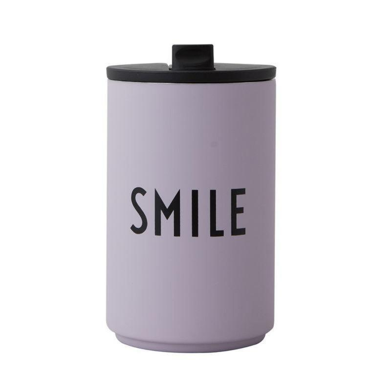 Thermo/Insulated Cup, Smile, Lavender
