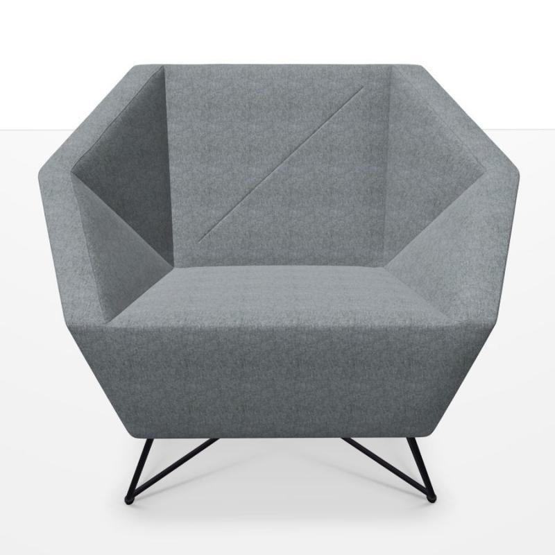 3angle Armchair, Grey