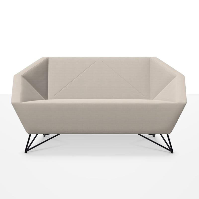 3angle Sofa, 2-Seater, Beige