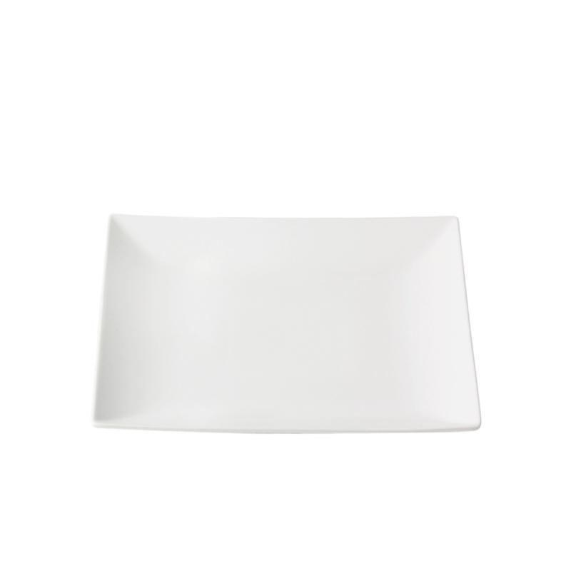 Quadro Stoneware Flat Plate, 18x18cm, White
