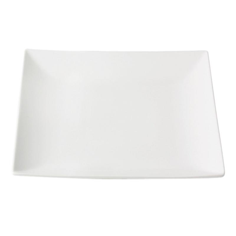 Quadro Stoneware Flat Plate, 26x26cm, White