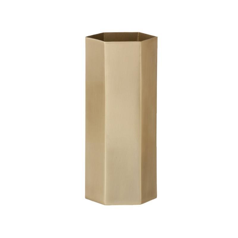 Hexagon Vase, Brass