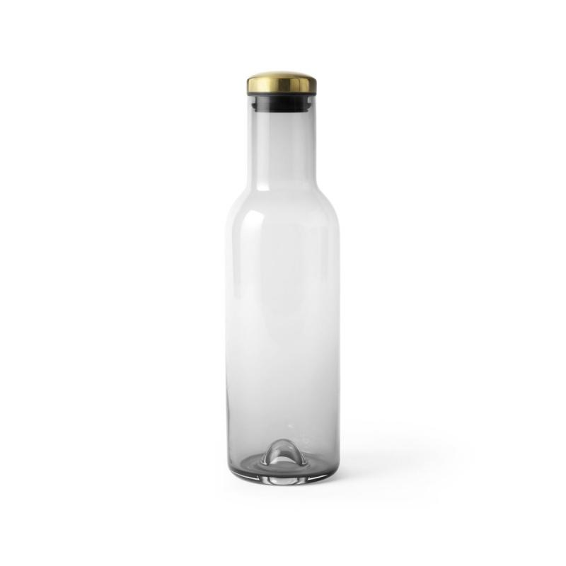 Bottle Carafe, 1L, Smoke / Brass Lid