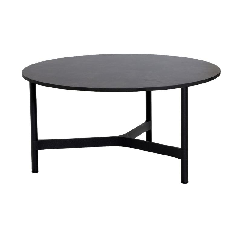 Twist Coffee Table, Large, Lava Grey