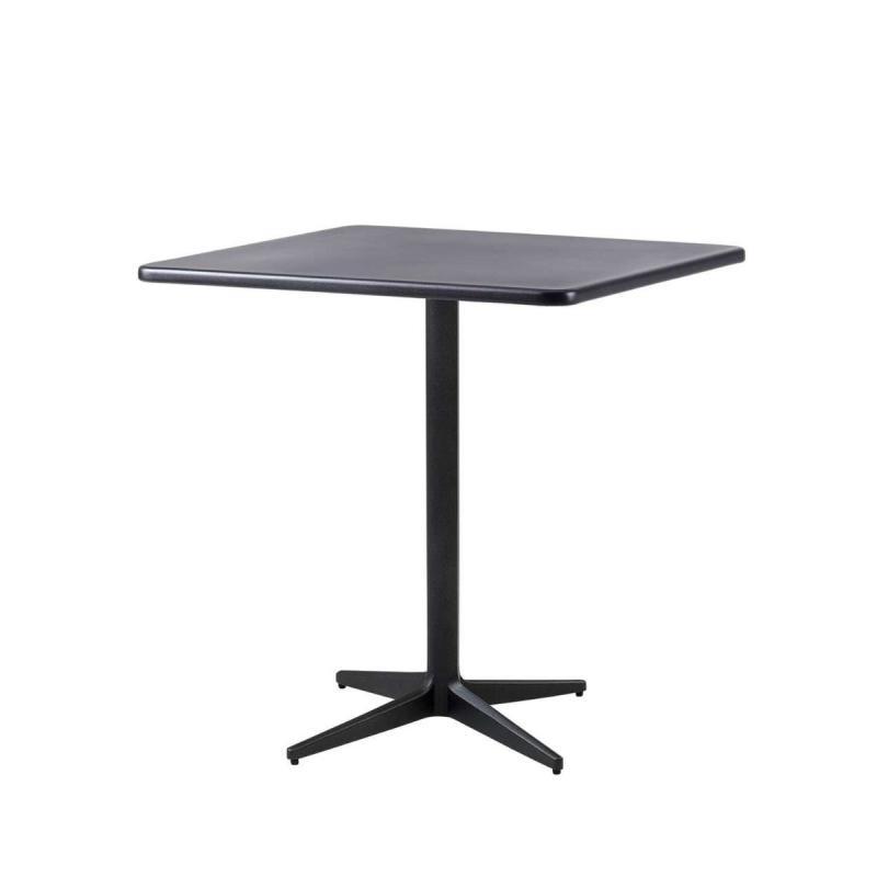 Drop Cafe Table, 75x75cm, Lava Grey