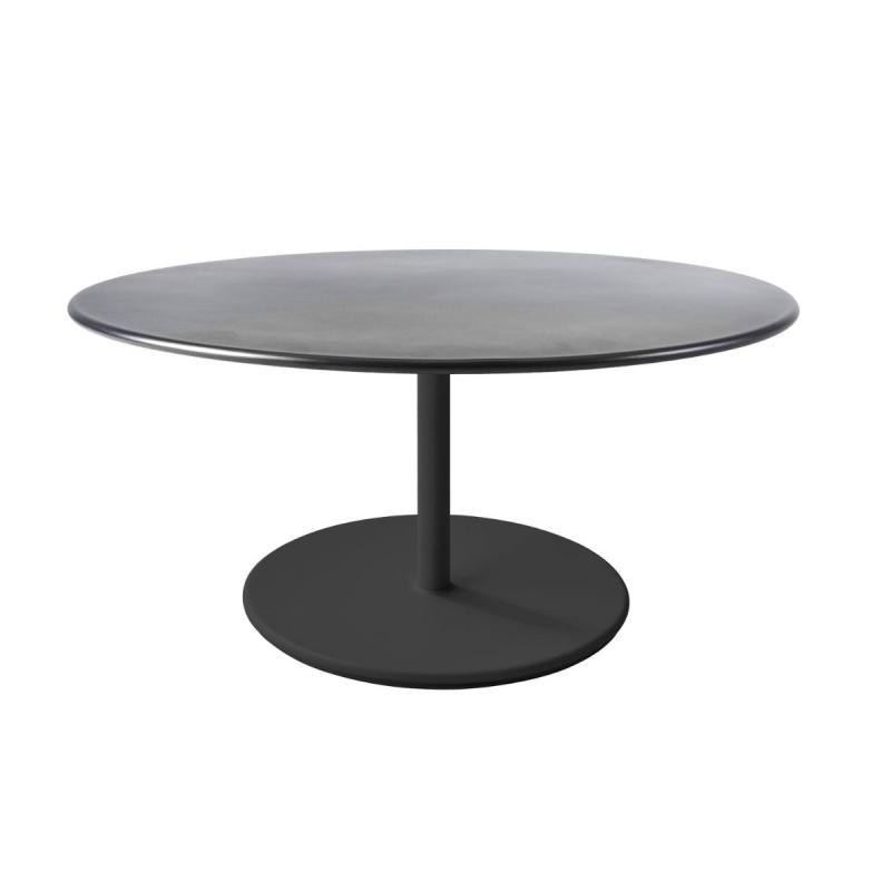 Go Coffee Table, Ø110cm, Lava Grey