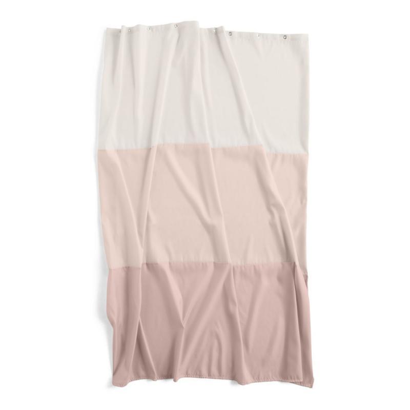 Aquarelle Horizontal Shower Curtain, Rose
