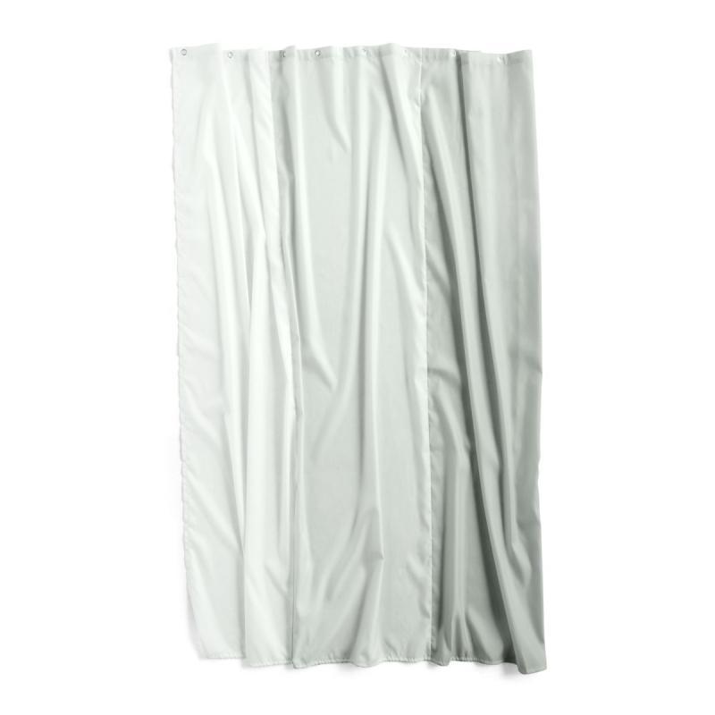 Aquarelle Vertical Shower Curtain, Eucalyptus